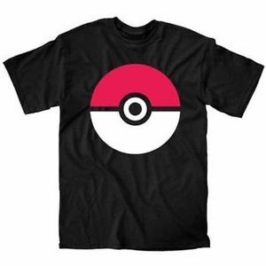 NWOT Welovefine Pokeball Men's Black T-Shirt